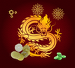Счастливый золотой Дракон