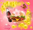 Весенний бургер и кола